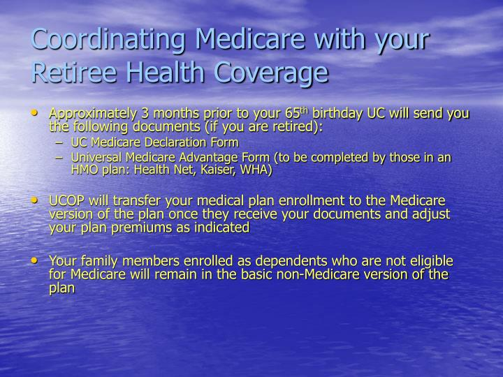 Coordinating Medicare with your Retiree Health Coverage