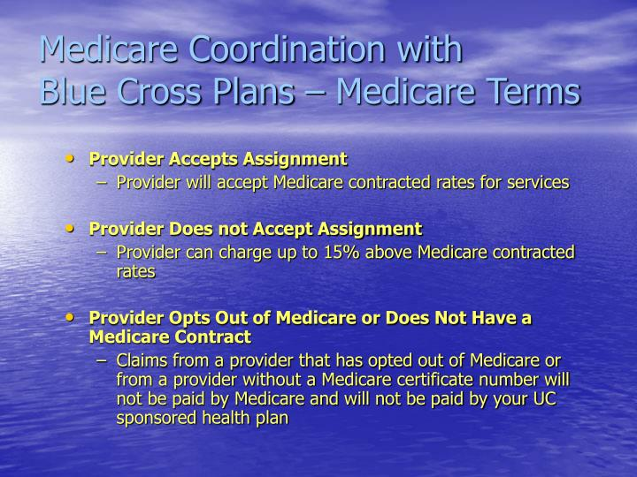 Medicare Coordination with