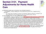 section 3131 payment adjustments for home health care