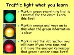 traffic light what you learn