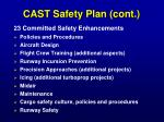 cast safety plan cont