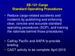 se 121 cargo standard operating procedures