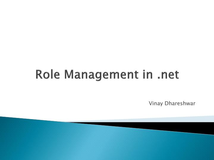 role management in net n.