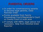 parental orders
