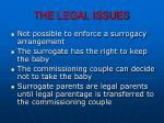 the legal issues2