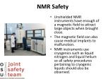nmr safety