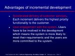 advantages of incremental development