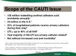 scope of the cauti issue