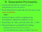 h emancipation proclamation