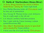 o battle of murfreesboro stones river
