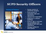 supd security officers