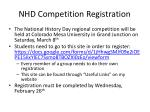 nhd competition registration