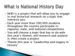 what is national history day