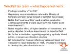 windfall tax team what happened next