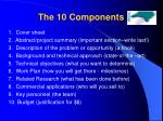 the 10 components