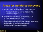 areas for workforce advocacy1