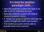 it s time for another paradigm shift