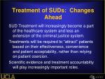 treatment of suds changes ahead