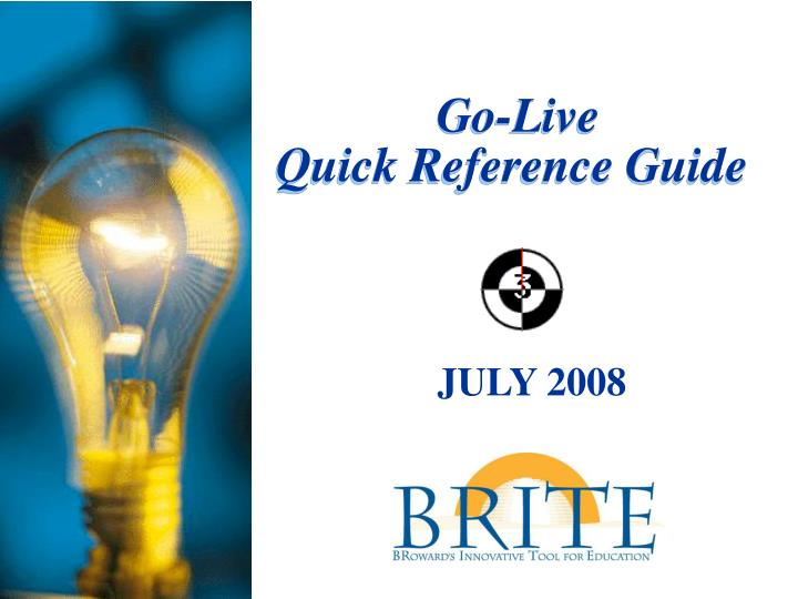 go live quick reference guide n.