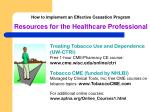 how to implement an effective cessation program resources for the healthcare professional