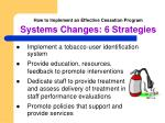 how to implement an effective cessation program systems changes 6 strategies