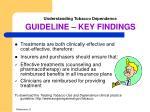 understanding tobacco dependence guideline key findings3
