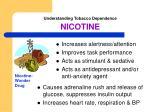understanding tobacco dependence nicotine