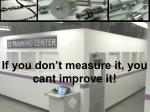 if you don t measure it you cant improve it