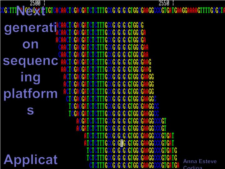 next generation sequencing platforms applications n.