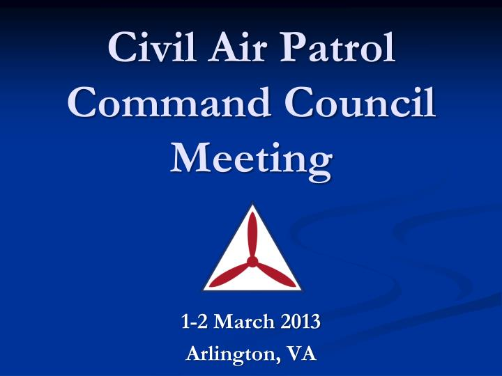 civil air patrol command council meeting n.