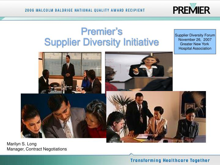 premier s supplier diversity initiative n.