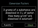 conversion factors6