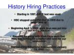 history hiring practices