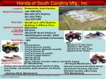 honda of south carolina mfg inc1