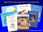 award winning publications and resources
