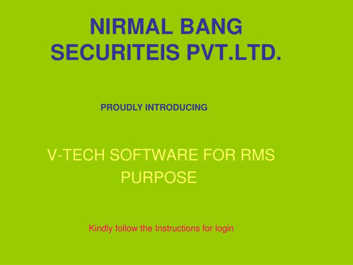 nirmal bang securiteis pvt ltd n.