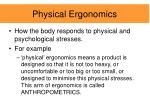 physical ergonomics