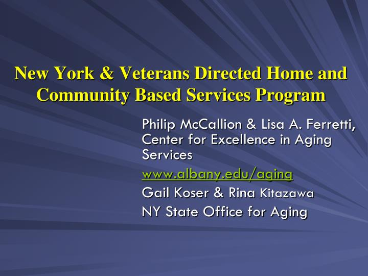 new york veterans directed home and community based services program n.