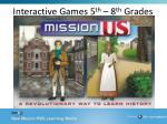 interactive games 5 th 8 th grades