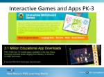 interactive games and apps pk 3