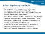 role of regulatory standards