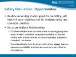 safety evaluation opportunities