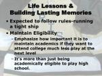 life lessons building lasting memories