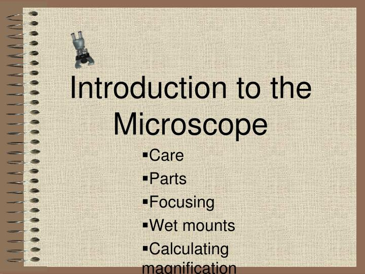 introduction to the microscope n.