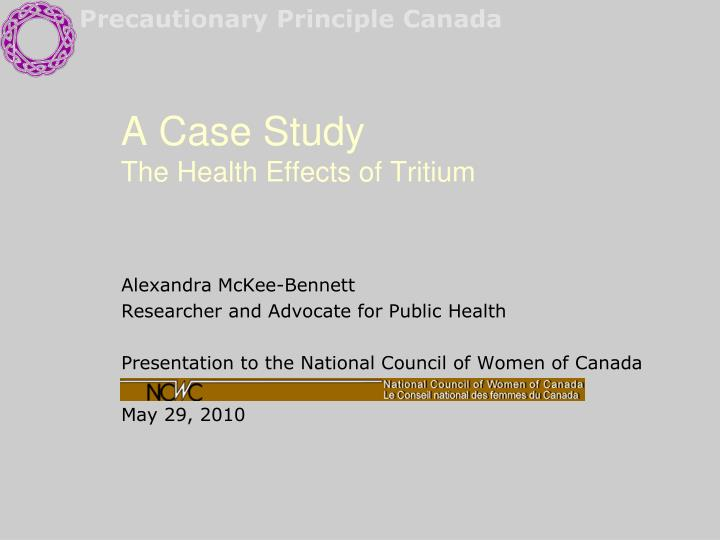 a case study the health effects of tritium n.