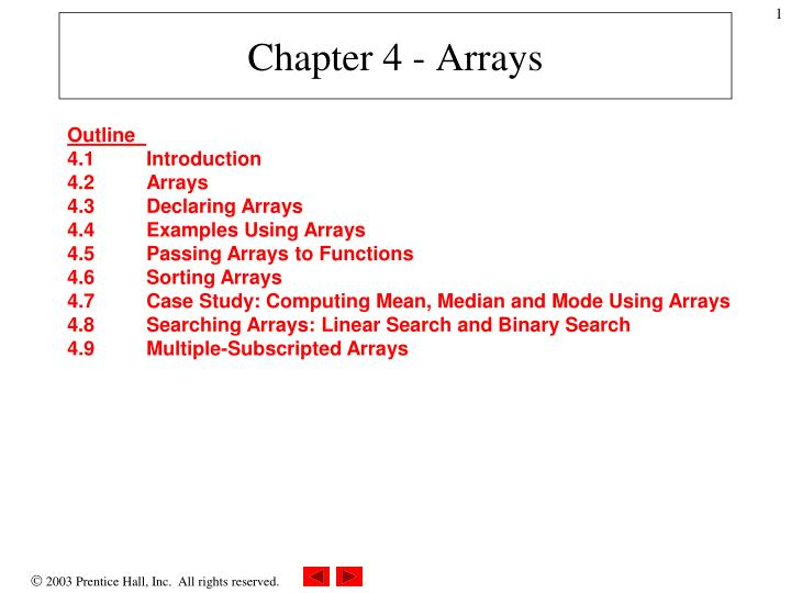 chapter 4 arrays n.