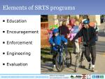 elements of srts programs