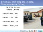 fewer kids are biking and walking more parents are driving