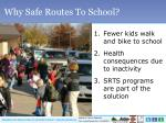 why safe routes to school