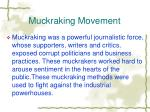 muckraking movement